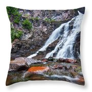 Caribou Falls Cascade Throw Pillow