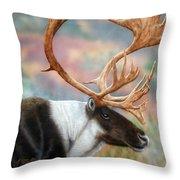 Caribou Throw Pillow
