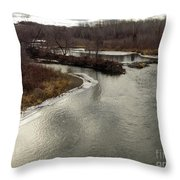 Caribou Stream Looking East Throw Pillow