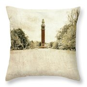Carillon In The Snow Throw Pillow