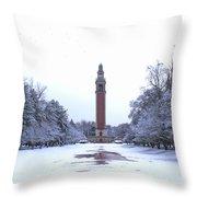 Carillon In Winter Throw Pillow