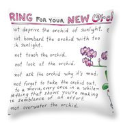Caring For Your New Orchid Throw Pillow