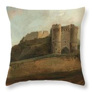 Carisbrooke Castle Throw Pillow