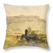 Carisbrooke Castle Throw Pillow