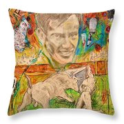 Carlos Arruza Throw Pillow