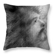 Carlos Santana Throw Pillow