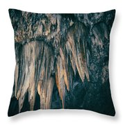 Carlsbad Caverns National Park Chandelier Throw Pillow