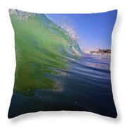 Carlsbad Wave 4 Throw Pillow