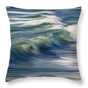 Ocean Wave Abstract Throw Pillow