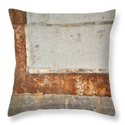 Carlton 14 - Abstract Concrete Wall Throw Pillow