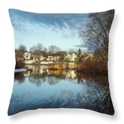 Carleton Place On The Mississippi - 18 Throw Pillow