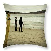 Carmel Beach, Ca Throw Pillow
