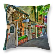 Carmel, Ca. The Shops Of Ocean Ave. Throw Pillow
