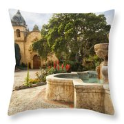 Carmel Church And Fountain Throw Pillow