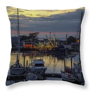 Carmel Coast Marina Throw Pillow