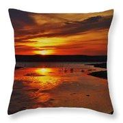 Carmel Colored Sunset In Kansas.  Throw Pillow