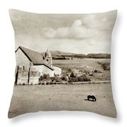 Carmel Mission Circa 1920 Throw Pillow