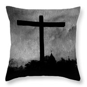 Carmel Mission Cross Throw Pillow
