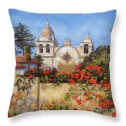 Carmel Mission Throw Pillow by Shelley Cost