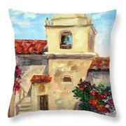 Carmel Mission, Summer Throw Pillow
