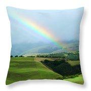 Carmel Valley Rainbow Throw Pillow