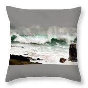 Carmel Wave Rock Throw Pillow