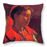 Carmelita Requena 1870 Throw Pillow