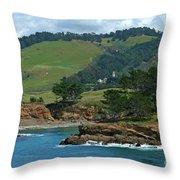 Carmelite Monastery Near Point Lobos Throw Pillow