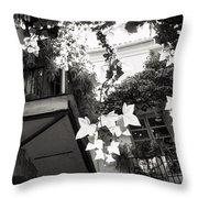 Carmen Valencia Courtyard Throw Pillow