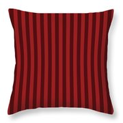 Carmine Red Striped Pattern Design Throw Pillow