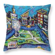 Carmine Street Throw Pillow