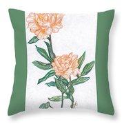 Carnation Flower Throw Pillow