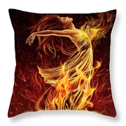 Carnation - Rebirth Throw Pillow