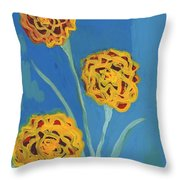 Carnations Against A Summer Sky Throw Pillow