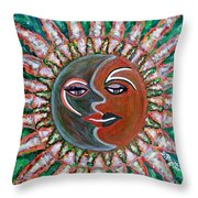 Carnavale Sunset Throw Pillow