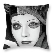 Carnavale Time Throw Pillow