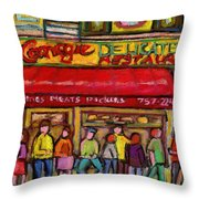 Carnegie's Deli Throw Pillow
