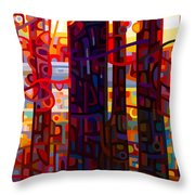 Carnelian Morning Throw Pillow