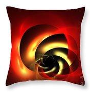 Carnelian Spiral Throw Pillow