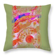 Carnival Abstract 2 Throw Pillow