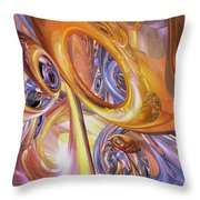 Carnival Abstract Throw Pillow