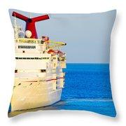 Carnival Cruise Ship Throw Pillow