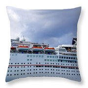 Carnival Cruise Ship Throw Pillow