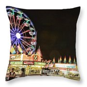 carnival Fun and Food Throw Pillow