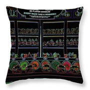 Carnival Game On Velvet Throw Pillow
