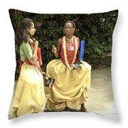 Carnival Girls Throw Pillow by Milan Mirkovic