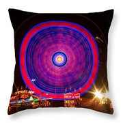 Carnival Hypnosis Throw Pillow