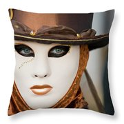 Carnival In Brown Throw Pillow