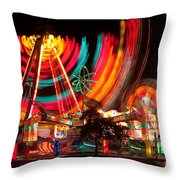 Carnival In Motion Throw Pillow