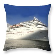 Carnival Inspiration Cruise Ship Throw Pillow